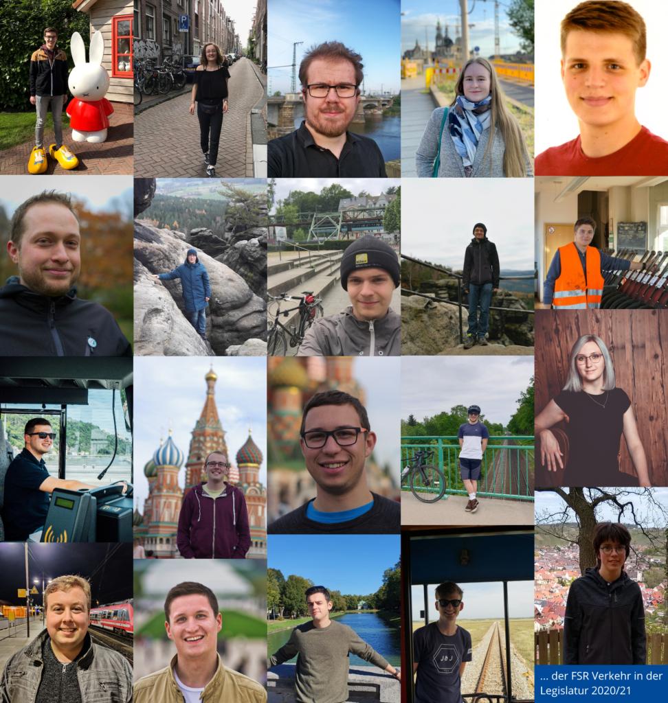 Collage der FSR-Mitglieder in der Legislatur 2020/21.